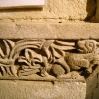 Santuario della Beata Vergine della Consolazione di Montovolo - Grizzana Morandi (Bologna - Italy) - dettaglio dei capitelli della cripta pre-cristiana by Anna Rita Benassi