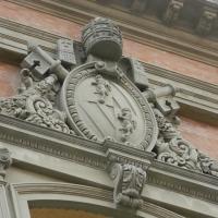 Particolare della facciata della cattedrale di San Cassiano by Riccardo.Rigo