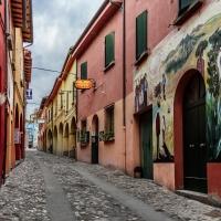 immagine da Borgo storico dipinto da artisti contemporanei (1960 e 2012)