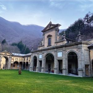 Santuario Boccadirio cortile interno by Michele Boschi