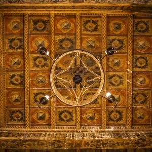 Castello del Capitano delle Artiglierie - Soffitto a cassettoni originale 1587 foto di: |anonimo| - Archivio fotografico del castello