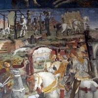 Palazzo schifanoia, salone dei mesi, 03 marzo (f. del cossa), borso alla caccia e amministrat. di giustizia 05 - Sailko