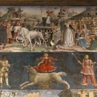 Palazzo schifanoia, salone dei mesi, 03 marzo (f. del cossa), trionfo di minerva 01 - Sailko