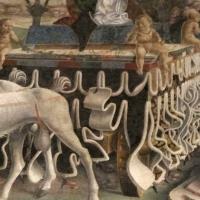 Palazzo schifanoia, salone dei mesi, 03 marzo (f. del cossa), trionfo di minerva 02 carro - Sailko