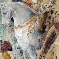 Palazzo schifanoia, salone dei mesi, 07 luglio (maestro dagli occhi spalancati), borso riceve degli ambasciatori 03 cavalli - Sailko
