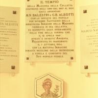 Santuario della Celletta. Lapide dedicatoria by Samaritani