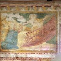 Scuola bolognese, ciclo dell'abbazia di pomposa, 1350 ca., vecchio testamento, 11 elia sul carro di fuoco by Sailko