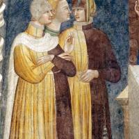 Pomposa, abbazia, refettorio, affreschi giotteschi riminesi del 1316-20, miracolo dell'abate guido strambiati 02 foto di Sailko
