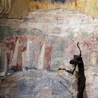 Scuola riminese, madonna col bambino e angeli, 1350-1400 ca. 03 devoti foto di Sailko