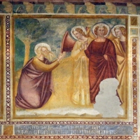 Scuola bolognese, ciclo dell'abbazia di pomposa, 1350 ca., vecchio testamento, 03 abramo e gli angeli by Sailko