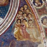 Vitale da bologna e aiuti, cristo in maestà, angeli, santi e storie di s. eustachio, 1351, 09 by Sailko