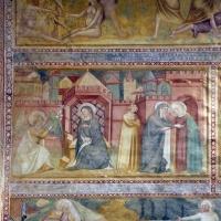 Scuola bolognese, ciclo dell'abbazia di pomposa, 1350 ca., nuovo testamento, 01 annunciazione e visitazione by Sailko