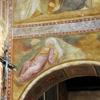 Scuola bolognese, ciclo dell'abbazia di pomposa, 1350 ca., apocalisse, 01 visione di s. giovanni foto di Sailko