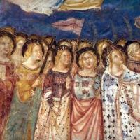 Vitale da bologna e aiuti, cristo in maestà, angeli, santi e storie di s. eustachio, 1351, 06 by Sailko