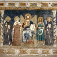 Pomposa, abbazia, refettorio, affreschi giotteschi riminesi del 1316-20, deesis 01 by Sailko