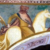 Scuola bolognese, ciclo dell'abbazia di pomposa, 1350 ca., apocalisse, 06 cavalieri con testa leonina 2 by |Sailko|