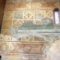 Scuola riminese, affreschi geometrici con bustini di santi, 1350-1400 ca. , affioramenti dell'XI secolo 03 by Sailko
