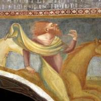 Scuola bolognese, ciclo dell'abbazia di pomposa, 1350 ca., apocalisse, 05 quattro cavalieri 4,1 verdastro by Sailko