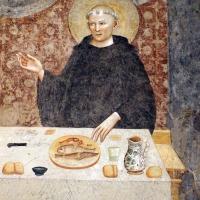 Pomposa, abbazia, refettorio, affreschi giotteschi riminesi del 1316-20, miracolo dell'abate guido strambiati 05 by Sailko