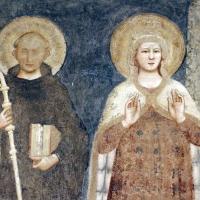 Pomposa, abbazia, refettorio, affreschi giotteschi riminesi del 1316-20, deesis 02 s. benedetto e maria by Sailko