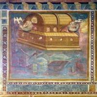 Scuola bolognese, ciclo dell'abbazia di pomposa, 1350 ca., vecchio testamento, 02 arca di noè foto di Sailko