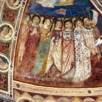 Vitale da bologna e aiuti, cristo in maestà, angeli, santi e storie di s. eustachio, 1351, 05 by |Sailko|