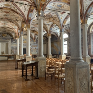 Monastery library photo by Martina Anelli