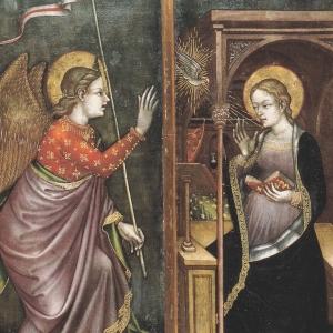 OTTAVIANO NELLI, L'ANNUNCIAZIONE (1425 c.) foto di Johnny Farabegoli  - Ufficio Beni Culturali -Diocesi di Rimini