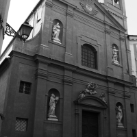 Chiesa di San Barnaba Modena bianco e nero