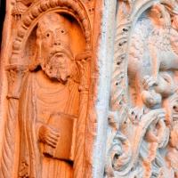 Profeta e decorazione portale centrale by Chiara Salazar Chiesa