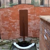 Fontana posta al centro dell'Orto