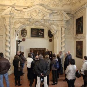 Rocca Viscontea (o Cittadella, resti) - Appartamento stuccato, alcova foto di: |Carlo Pagani| - Archivio fotografico del Comune di Piacenza
