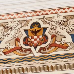 Castello di Varano De' Melegari - AFFRESCO SALONE D'ONORE foto di: |SCARDOVA| - Archivio fotografico del castello