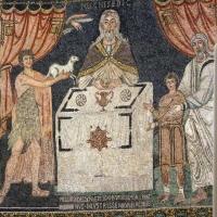 Sant'apollinare in classe, mosaici del catino, sacrifici di abele, melchidesech e abramo, 650-700 ca. 03 by Sailko
