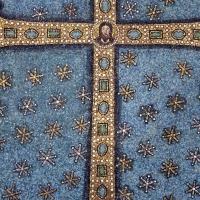 Sant'apollinare in classe, mosaici del catino, trasfigurazione simbolica, VI secolo, 05 croce gemmata by |Sailko|