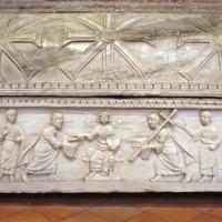 Sant'apollinare in classe, interno, sarcofagi ravennati del V secolo ca. 05 gesù tra gli apostoli 1 photos de Sailko