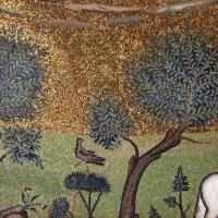 Sant'apollinare in classe, mosaici del catino, trasfigurazione simbolica, VI secolo, 08,1 alberi (con restauri) by Sailko