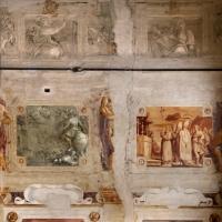 Pier francesco battistelli e aiuti, affreschi con scene dell'orlando furioso e della gerusalemme l. tra telamoni, 1619-28, 14