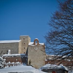 Rocca Malatestiana - Rocca malatestiana di Verucchio con la neve foto di: |Alessandra D'Alba| - IAT VERUCCHIO